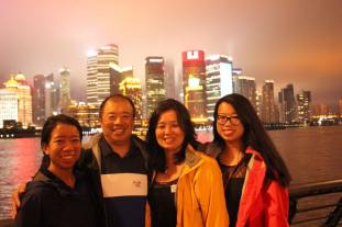 Becky and her family on a recent trip to China.