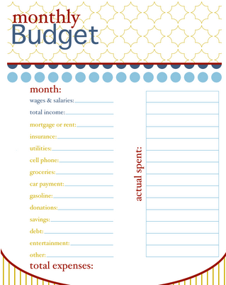 basic monthly budget