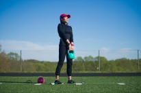 The shape and weight dispersion of a kettlebell is more conducive to things you pick up in everyday life - a purse, grocery bags, tool box, etc.
