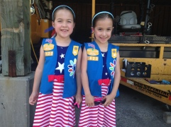 Twins Addison and Alisa, both 6-years-old, just started their first year as Daisies. They said they love Girl Scouts because they get to play with their friends and help out the community.